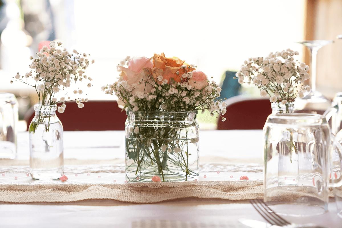 Tischdeko Hochzeitstafel
