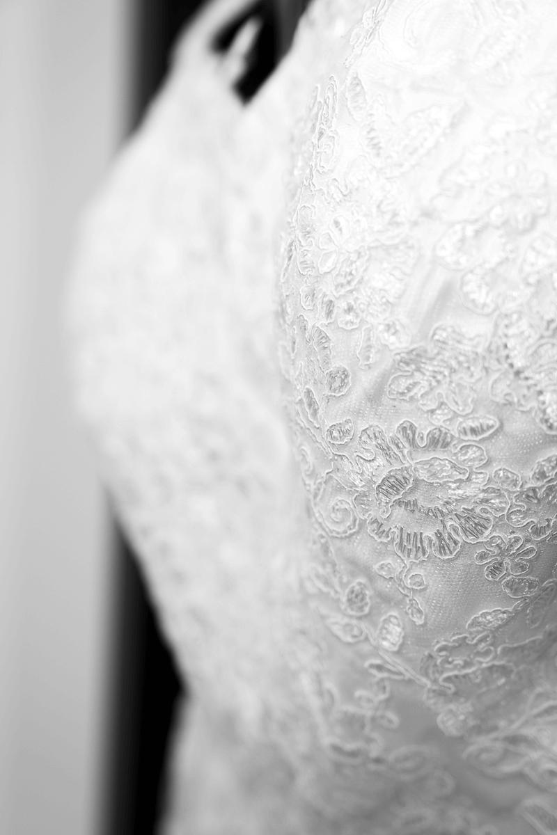 Brautkleid im Detail