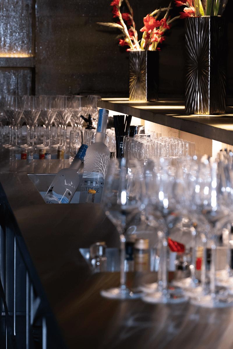 Bar mit Getränke